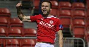 Conan Byrne's goal earned St Pat's a draw from their trip to Limerick. Photograph: Inpho