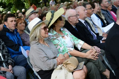 Guests attending the Francis Ledwidge commemoration in Slane, Co Meath.  Photograph: Cyril Byrne/The Irish Times