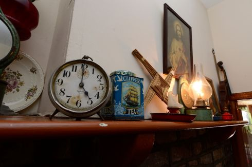 The contents of a mantlepiece at the birthplace and museum to Lance Corporal Francis Ledwidge during the State commemoration ceremony marking 100 years since the poet's death. Photograph: Cyril Byrne/The Irish Times
