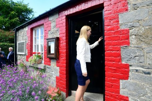 Helen McEntee, Minister for European Affairs, arriving at the birthplace of  Lance Corporal Francis Ledwidge.Photograph: Cyril Byrne/The Irish Times