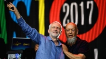 Jeremy Corbyn gets a rock star reception at Glastonbury
