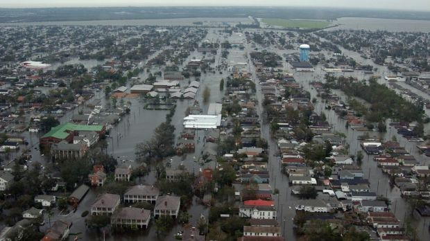 Hurricane Katrina: In The Shock Doctrine, Naomi Klein showed how neoliberals had perfected ways to exploit disasters for ideological and monetary profit. Photograph: Reuters