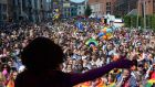 The Dublin Pride Parade at Smithfield Square, Dublin. All photographs: Dara Mac Donaill / The Irish Times