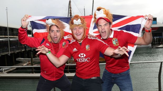 Lions fans in Auckland ahead of the first Test. Photo: David Davies/PA Wire