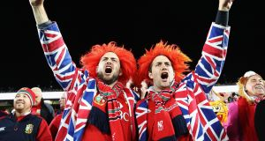 Lions fans sing prior to the first test match between the New Zealand All Blacks and the British & Irish Lions at Eden Park in Auckland, New Zealand. Photo: Phil Walter/Getty Images