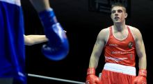 Joe Ward: chalked up a third European Championship gold medal by defating the Russian champion in the final in the Ukraine. Photograph: Donall Farmer/Inpho