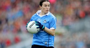Sinead Aherne: Dublin's captain scored 3-4 against Laois in the Leinster SFC semi-final.  Photograph: Ryan Byrne/Inpho