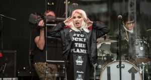 Blondie perform as support to Phil Collins in the Aviva Stadium in Dublin on Sunday evening.