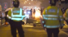 Police officers injured during London protest over man's death