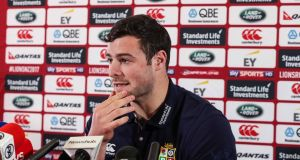 British and Irish Lions' Robbie Henshaw during a press conference on Monday. Photo: Billy Stickland/Inpho