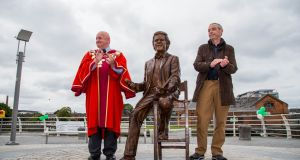 The mixed public reaction to Terry Wogan in bronze has moved us to scour our archives... The bronze sculpture was unveiled in Limerick to commemorate the late Terry Wogan . At the ceremony were Mayor of Limerick City and County Cllr. Kieran O'Hanlon and artist Rory Breslin.   Photograph: Alan Place
