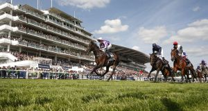 Wings Of Eagles  wins the Epsom Derby from Cliffs Of Moher earlier this month. Photograph:  Alan Crowhurst/Getty Images