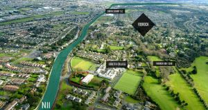 The ready-to-go residential site in Foxrock has frontage to Pine Avenue and Springfield Park in a mature location just off the N11.