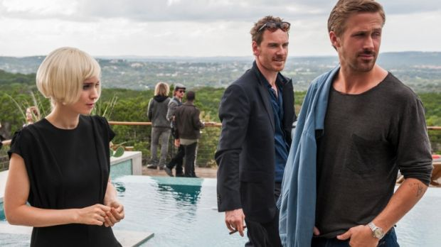 Rooney Mara, Michael Fassbender and Ryan Gosling in Song to Song