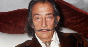 This file photo taken on 13th December , 1972 shows Spanish artist Salvador Dali in Paris. Photograph: AFP
