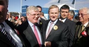 "Enda Kenny and Eamon Gilmore: June 29th, 2012, was the moment of what both the then taoiseach and tánaiste called the ""game-changer"". Photograph: Eric Luke"