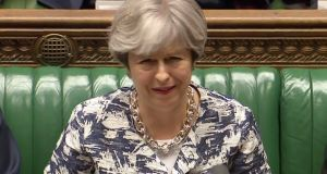 Theresa May made clear that immigration arrangements will not apply to Irish citizens, whose rights will continued to be guaranteed under the Common Travel Area. Photograph: Getty Images.