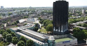 The Grenfell Tower blaze which trapped dozens of people in their beds, has become a focus of public anger. Photograph: David Mirzoeff/PA Wire