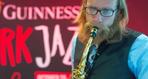 Alcohol sponsorship: Oliver Elhotz performing with the Clare Sands trio at the Guinness Cork Jazz Festival. Photograph:  Michael Mac Sweeney/Provision