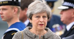 British prime minister Theresa May: one scandal or misjudgment from oblivion. Photograph:  Peter Byrne/PA Wire