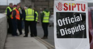 Siptu members working with Cork County Council are to stage a four-hour work stoppage on Tuesday. File photograph: Niall Carson/PA Wire
