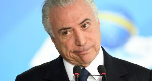Brazilian president Michel Temer. Photograph: Evaristo Sa/AFP/Getty Images