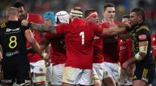 Joe Marler and the rest of the Lions frontrow were forced to play the full 80 minutes against the Hurricanes. Photograph: David Davies/PA Wire.