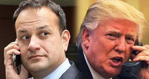 Taoiseach Leo Varadkar and US President Donald Trump spoke by telephone on Tuesday for the first time. Photograph: Julien Warnand/EPA