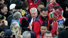 British and Irish Lions head coach Warren Gatland leaves the pitch after the Lions' draw with Hurricanes at the Westpac Stadium, Wellington. Photo: David Davies/PA