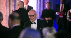 Rupert Murdoch, chairman of Fox News Channel, aboard The Intrepid Sea, Air & Space Museum in New York in May. (Photograph: Al Drago/The New York Times)
