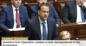 Taoiseach Leo Varadkar said he would seek advice on whether he could publish the letter sent to the Government by senior judges. Image: Oireachtas TV