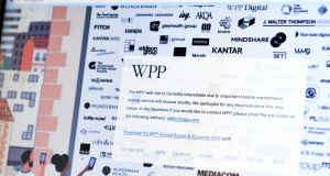 British advertising giant WPP said it was assessing the situation. Photograph: Benjamin Fathers /AFP/Getty