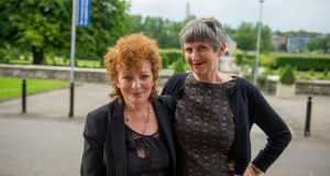 Nan Goldin and Vivienne Dick at the launch of the exhibitions Weekend Plans and 93% Stardust in Imma, Dublin. Photograph: Ruth Medjber