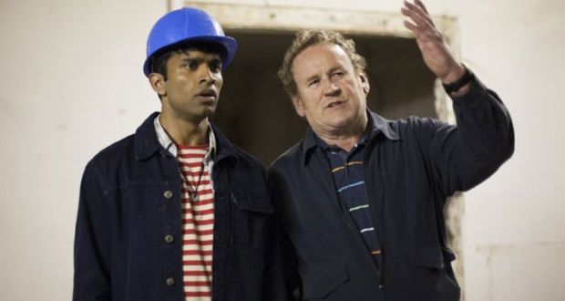 Nikesh Patel and Colm Meaney in 'Halal Daddy'