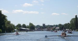 Racing at Henley Rowing Club  in Henley-on-Thames. Photograph: Jeremy Gaunt/Reuters