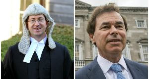 Barrister Seán Guerin (left) has asked the Supreme Court to hear an appeal against Alan Shatter's successful challenge to sections of his report on the  handling of Garda whistleblower Sgt Maurice McCabe's complaints.