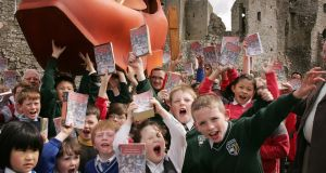 Children from St Mary's, St Michael's and St Patrick's national schools in Trim read from Jonathan Swift's Gulliver's Travels in advance of the Trim Swift Festival in 2011. Photograph: Alan Betson