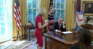 Caitriona Perry told the  US president she was from RTÉ