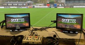 A TG4 studio for its live GAA programme, GAA Beo.
