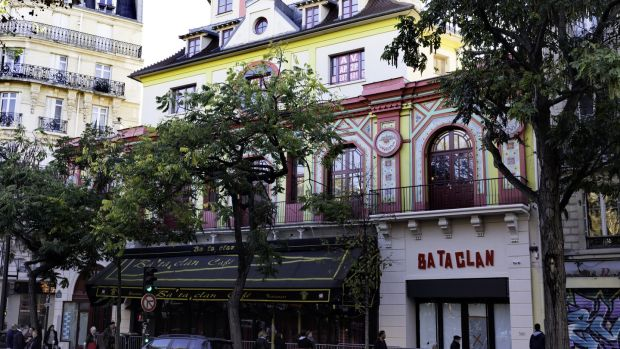 The Bataclan has now reopened as a theatre and a concert venue although the cafe remains closed. Photograph: Bernard Menigault/Corbis via Getty Images