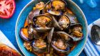 'Nduja clams and tomato toasts.