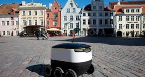 A robot by Starship Technologies on the streets of Tallinn, Estonia. The country's focus on information and communications technology  helped it become the birthplace of such companies. File photograph: Getty Images