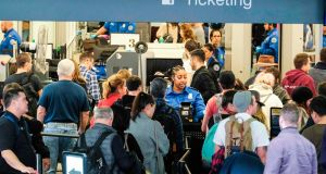 Measures would affect 325,000 airline passengers on about 2,000 commercial flights arriving daily in the United States. Photograph: AFP