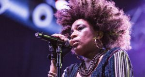 Macy Gray performs  on April 1st, 2017 in Barcelona, Spain. Photograph:  Xavi Torrent/WireImage