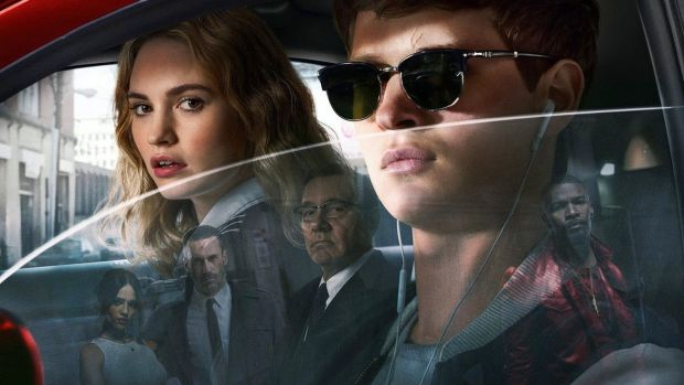Who loves ya? Lily James and Ansel Elgort in Baby Driver
