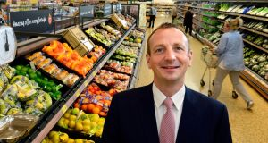 Giles Hurley, head of Aldi Ireland, is particularly excited by Aldi's chilled fish section. Sales of the scaly stuff are almost two and a half times what they were two years ago. Photograph: Cyril Byrne
