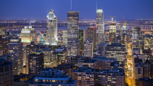 Downtown Montreal. Photograph: Getty Images