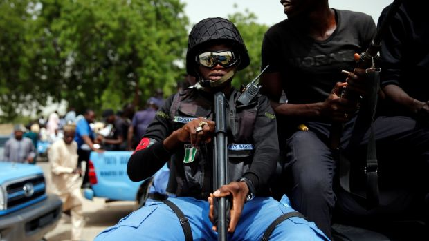 CJTF militia member Baba Gana holds a gun in the back of a truck during a patrol in the city of Maiduguri, northern Nigeria, June 9th, 2017. File photograph: Akintunde Akinleye/Reuters