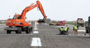 The DAA  has begun preliminary work on the new runway at Dublin Airport  and is due to award the construction contract this year.  Photograph: Alan Betson