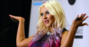 Christina Aguilera – amhránaí. grianghraf: kevin winter/getty images
